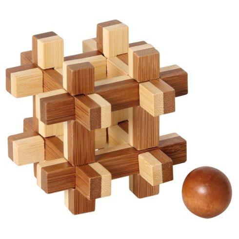 Bambusz puzzle - Bebörtönzött golyó