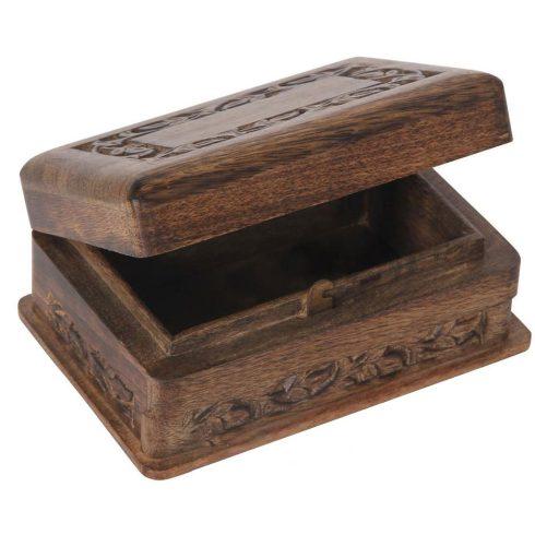 Trükkös doboz fából