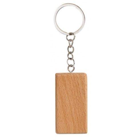 Gravírozható fa kulcstartó