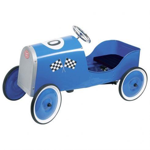 Pedálos fém autó - Kék versenyautó