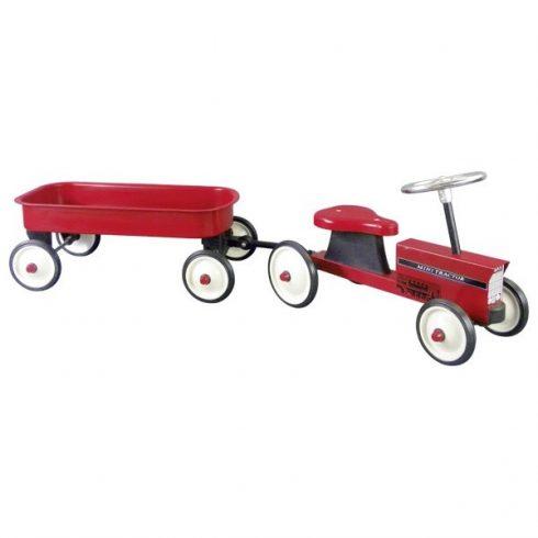 GOKI - Lábbal hajtós traktor pótkocsival