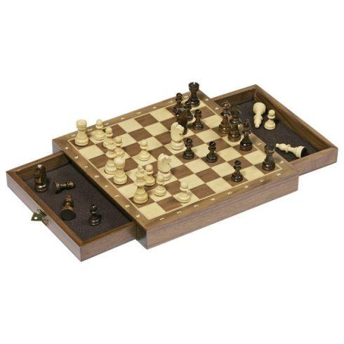 Mágneses sakk készlet, fiókos