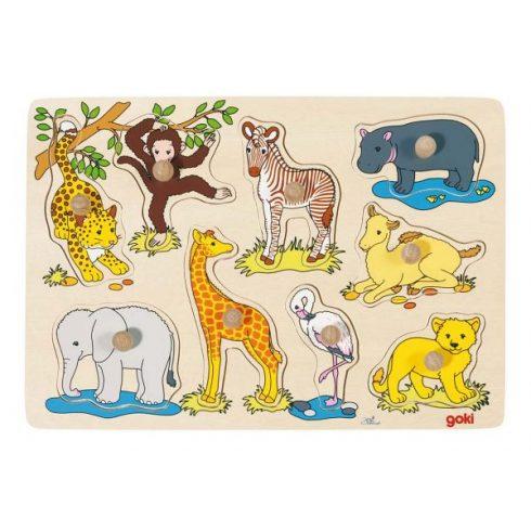 Fa fogós kirakó - Afrikai állatok