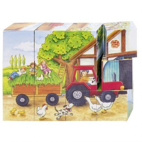 Fa mesekocka - Farm, 12 db-os