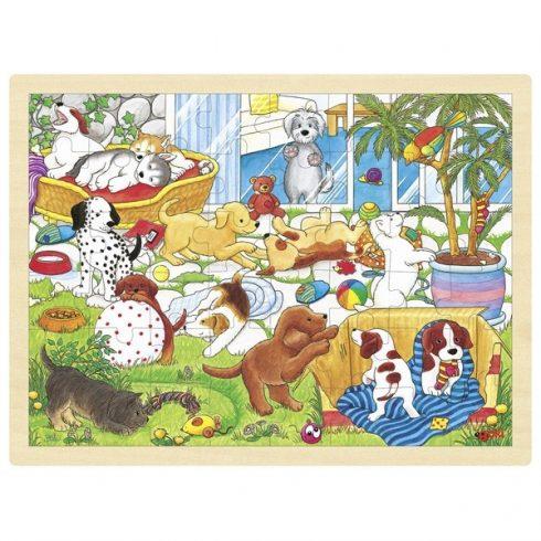 Fa puzzle - Kutyaiskola