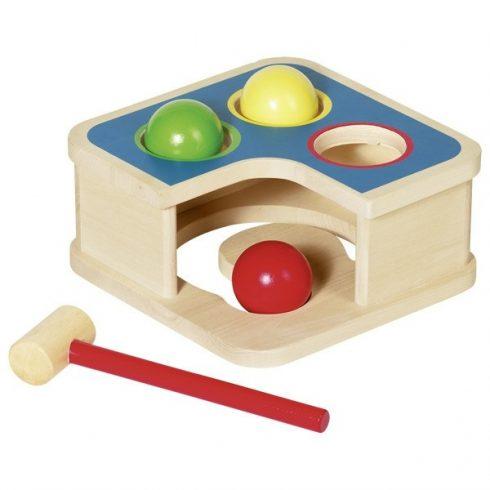 Kalápálós játék és golyópálya
