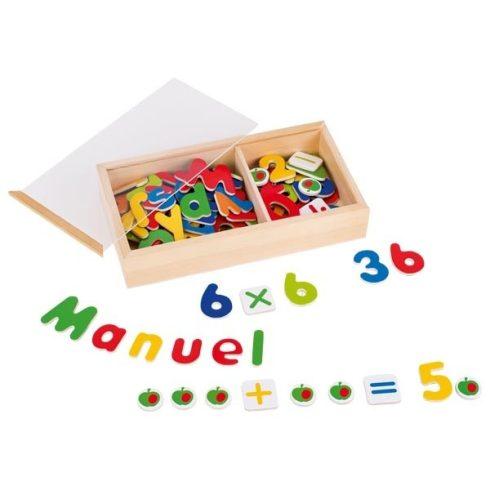 Mágneses betűk és számok