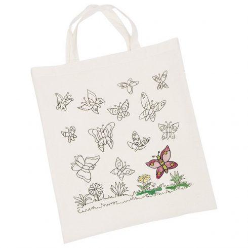 Kifesthető textil zsák - Pillangók
