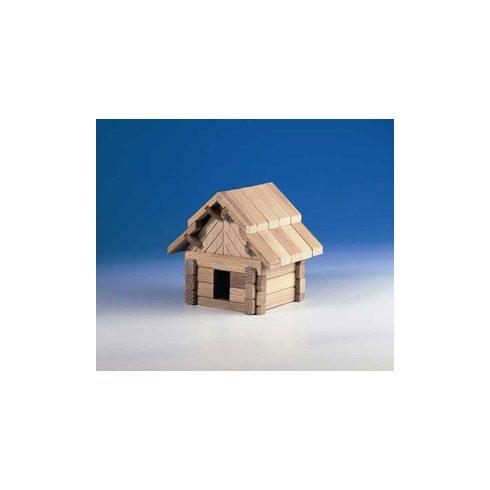 Fa építőjáték - Házikó, 42 db-os