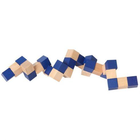 Logikai játék - Kígyó kocka (kék)