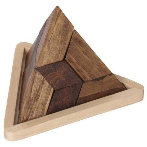 Fa logikai játék - Piramis