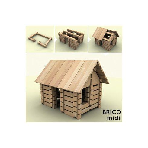 BRICO fa építőjáték - Midi (146 db-os)