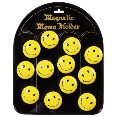 Mágneses jegyzettartó, hűtőmágnes - Smile